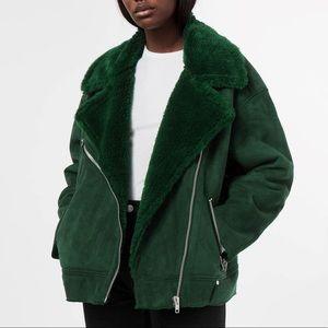 Weekday  Faux Fur Nora Moto Shearling Coat